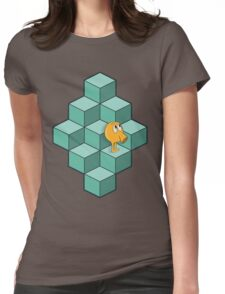 QBert is waiting... Womens Fitted T-Shirt