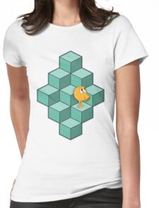 QBert is waiting... Womens Fitted T-Shirt