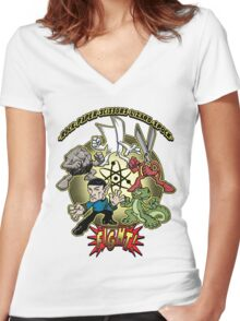 and Fight! Women's Fitted V-Neck T-Shirt