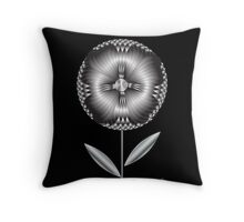Art Deco Blooming Number 1 Throw Pillow