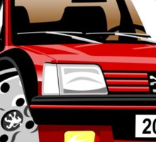Peugeot 205 CTI caricature red Sticker