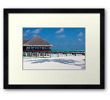 Beach Bar Over Water Medhufushi Maldives Framed Print