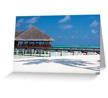 Beach Bar Over Water Medhufushi Maldives Greeting Card