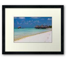 Beach and Beach Bar Maldives Framed Print