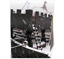 """Medieval """"kogge"""" Cog vessel Kampen Netherlands Poster"""