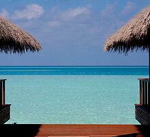 Over Water Villas Medhufushi Maldives by Craig Ringland