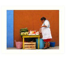 Mexican Woman Art Print