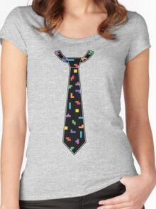 Tetris Tie Women's Fitted Scoop T-Shirt
