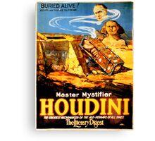 Master mystifier Houdini Rare Vintage Canvas Print