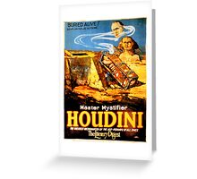 Master mystifier Houdini Rare Vintage Greeting Card