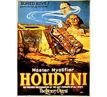 Master mystifier Houdini Rare Vintage Photographic Print