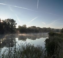 Mapledurham reach River Thames by Jim Hellier