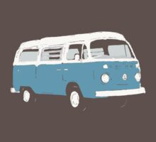 Bay Window Campervan Basic Colours (see description) One Piece - Short Sleeve
