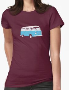 Bay Window Campervan Basic Colours (see description) Womens Fitted T-Shirt
