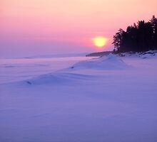 Sunset in winter by ibphotos