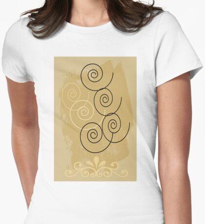 Swirly Womens Fitted T-Shirt