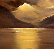Sunset on Loch Earn by Gesina