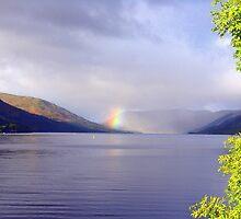 Rainbow on Loch Earn by Gesina