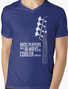 Bass Players Will Always Be Cooler Than You - Bass Headstock - Bass Guitarist - Bassist Mens V-Neck T-Shirt