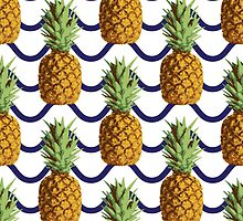Pineapple and wave stripes by yopixart
