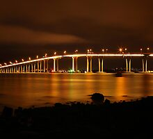 Tasman Bridge by Night #2 by Chris Cobern