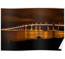 Tasman Bridge by Night #2 Poster
