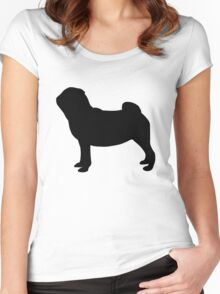 Pug Dog Women's Fitted Scoop T-Shirt