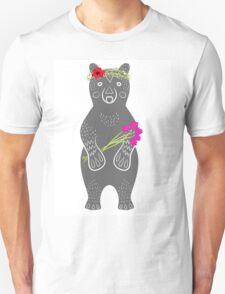 Grey bear standing Unisex T-Shirt