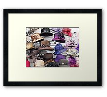Wall of Hats Framed Print