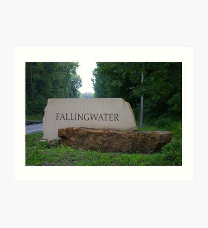 Falling Water, Pennsylvania Art Print