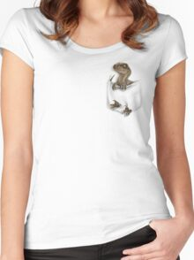 Pocket Protector - Echo Women's Fitted Scoop T-Shirt
