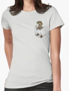 Pocket Protector - Echo Womens Fitted T-Shirt