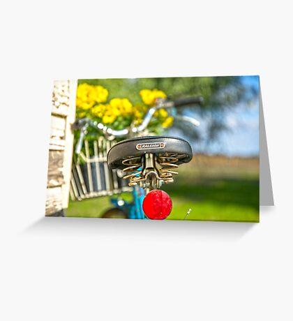 Old RALEIGH Bike Seat.. Greeting Card