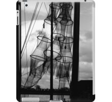 Fishing nets in sun at the river IJssel Netherlands iPad Case/Skin