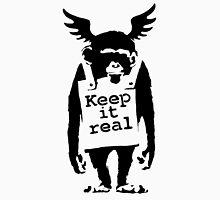 banksy - keep it real monkey Unisex T-Shirt