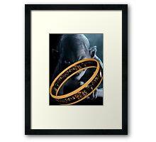 Gollum Ring Framed Print