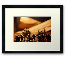 Future soldiers Framed Print