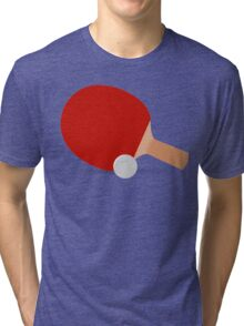 Ping Pong, Bat & Ball Tri-blend T-Shirt