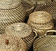 Baskets on market Kampen Netherlands by patjila