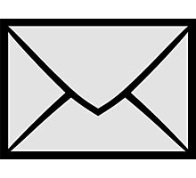 E-Mail Symbol Photographic Print