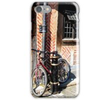 Lonely bicyle in York iPhone Case/Skin