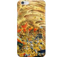 The whirlwind of fire attacked Yoshiwara street iPhone Case/Skin