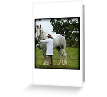 Noddy the tallest horse in the world Greeting Card