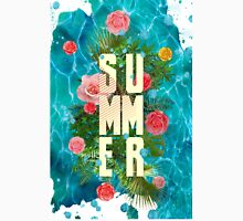 Summer collage with flowers and palm trees T-Shirt