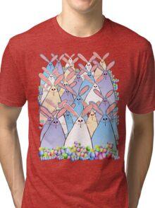 Happy Easter Bunnies Tri-blend T-Shirt