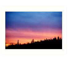 {northern}sunset Art Print