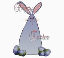 Purple Easter Bunny Lettered by Lotacats