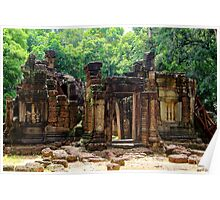 Antique Temple in the Jungle - Angkor, Cambodia.  Poster