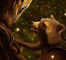 Groot and Rocket by nero749