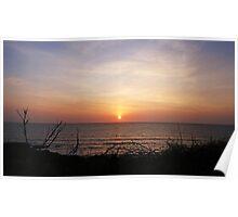 Serene Woolacombe Sunset Poster